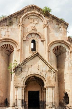 Exterior view of Oshki or Oshk Vank,church of St John Baptist Church locates in Uzundere distrist of Erzurum province Turkey.18 May 2014