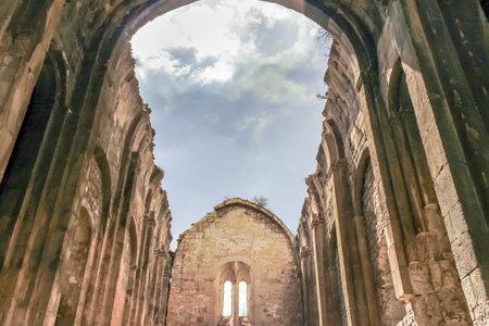 Interior view of Oshki or Oshk Vank,church of St John Baptist locates in Uzundere distrist of Erzurum province Turkey.18 May 2014