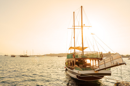 View of Marine with luxury yachts and sail yachts in Bodrum harbor.Bodrum,Turkey. Stock Photo