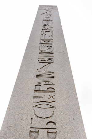 Obelisk of Theodosius or Egyptian Obelisk in ancient Hippodrome near Sultanahmet,Blue Mosque in Istanbul, Turkey Stock Photo