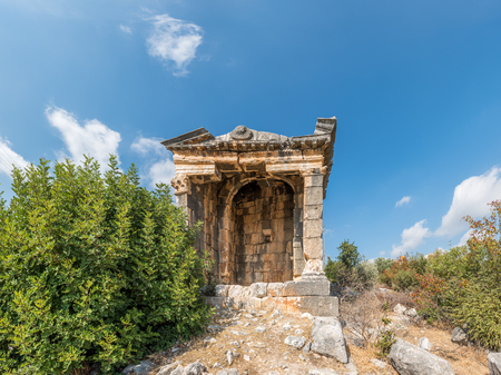 Exterior view of Demircili Monumental tombs located in Demircili Village,Silifke,Mersin,Turkey Banque d'images