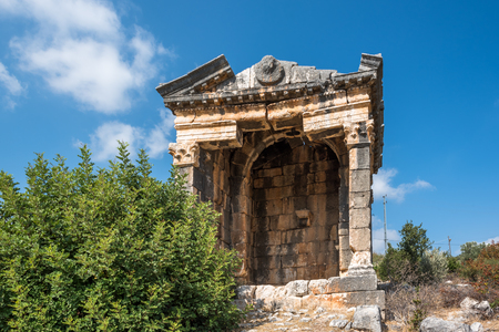 Exterior view of Demircili Monumental tombs located in Demircili Village,Silifke,Mersin,Turkey Stock Photo