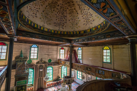 Interior detail of Artin,Macahel,Camili Camii(mosque),a special mosque which was coverd with wooden boards built in Eighteen century.TURKEY,Artvin,August 18, 2015