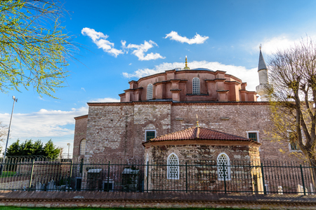 Exterior view of Little Hagia Sophia built in 527-536 as Church of the Saints Sergius and Bacchus, and converted into a mosque.ISTANBUL,TURKEY- APRIL 9, 2017