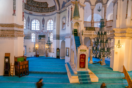Interior decoration view and artworks of Little Hagia Sophia built in 527-536 as Church of the Saints Sergius and Bacchus, and converted into a mosque.ISTANBUL,TURKEY- APRIL 9, 2017 Editorial