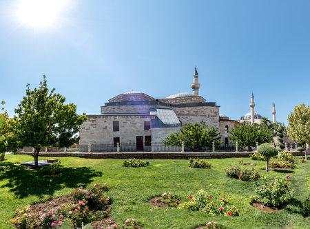 Exterior panoramic view of Mevlana museum in Konya,Turkey.28 August 2017