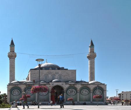 Exterior view of Selimiye Mosque in Konya,Turkey.28 August 2017 Editorial