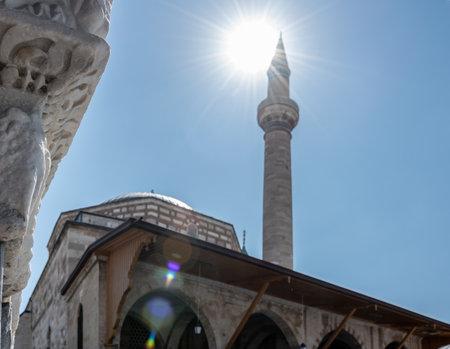 Exterior view of Mevlana museum in Konya,Turkey.28 August 2017