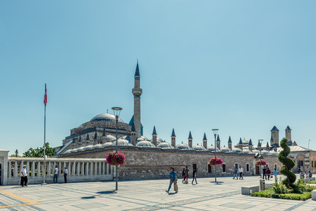Exterior view of Mevlana museum in Konya,Turkey.28 August 2017