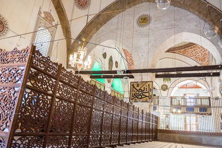 Interior detailed view of Mevlana museum in Konya,Turkey.28 August 2017 Redakční