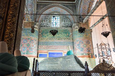 Tomb of Mevlana at Mevlana museum in Konya,Turkey.28 August 2017 Redakční