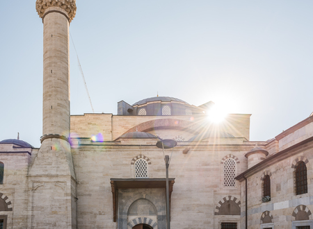 Exterior view of a mosque in Konya,Turkey.28 August 2017