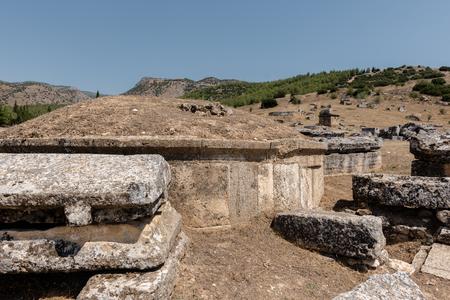 Tumulus at Hierapolis northern necropolis in Pamukkale, Turkey.