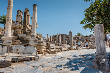 Memmius Monument at Ephesus historical ancient city, in Selcuk,Izmir,Turkey:20 August 2017