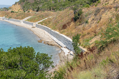ANZAC cove, site of World War I landing of the ANZACs on the Gallipoli peninsula in Canakkale Turkey