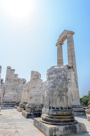 Exterior view Apollo Temple at Didyma in Didim,Aydin,Turkey.