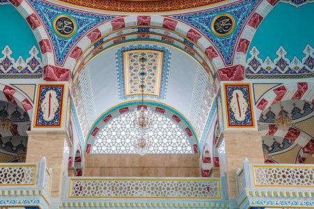 Interior view of Center Isabey Mosque in Bursa,Turkey.20 May 2018