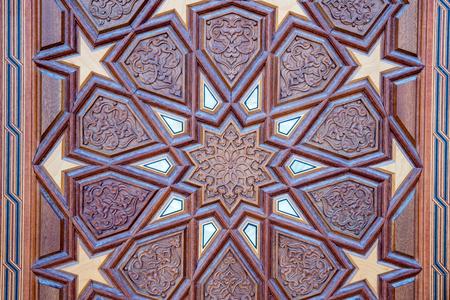 Decorated door of Center Isabey Mosque in Bursa,Turkey.