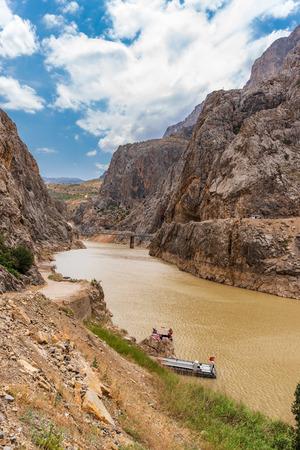 Landscape view of Dark Canyon in Town of Kemaliye or Egin in Erzincan,Turkey