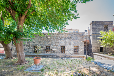 View of Zinciriye Medresesi or Madrasah near Ulu Mosque,a popular landmark in Diyarbakir,Turkey.16 July 2018