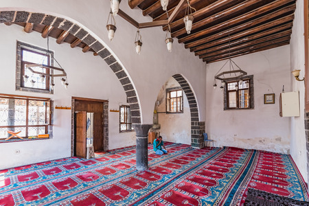Interior View of Salos Mosque built during Ottoman Empire .Diyarbakir,Turkey.16 July 2018