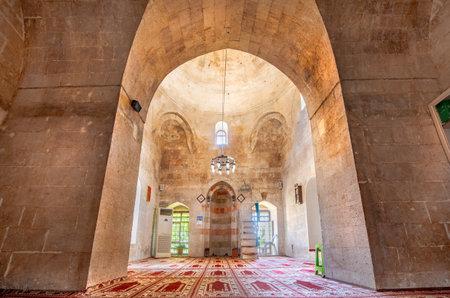 Interior of Hamidiye Mosque(Seyh Zebuni)built in 1347 and locates in Mardin,Turkey.17 June 2018
