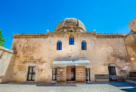 Courtyard of Melik Mahmut Mosque(Bab Es Sur)built in 1368 and locates in Mardin,Turkey.17 June 2018
