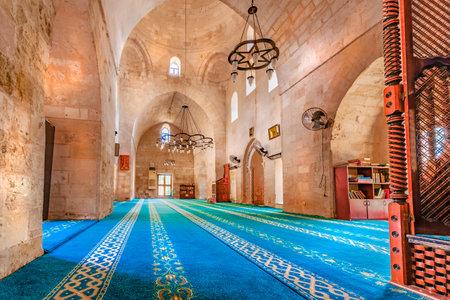 Interior of Melik Mahmut Mosque(Bab Es Sur)built in 1368 and locates in Mardin,Turkey.17 June 2018 Editorial