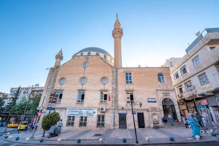 View of Imam Aslan Mosque in Sanliurfa city center.Sanliurfa,Turkey.18 July 2018