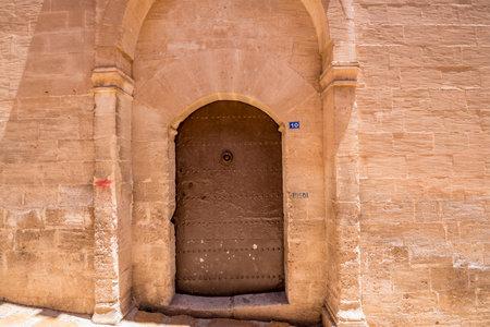 Door of Mor Yusuf (Surp Hovsep;St Joseph) Church  which locates in Mardin,Turkey.18 June 2018
