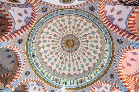 Ceiling of Mevlidi Halil Mosque,one of landmarks in Sanliurfa,Turkey.19 July 2018