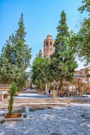 Courtyard of Ulu(Great) Mosque built between 1170-1175 in Sanliurfa,Turkey.19 July 2018