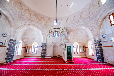 View of Huseyin Pasa(Pasha)Mosque in Sanliurfa city center.Sanliurfa,Turkey.19 July 2018 Editöryel