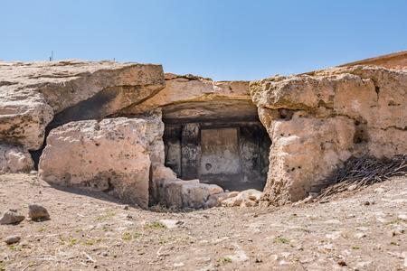 Exterior view of Pognon or Ponyon Caves in Harran,Sanliurfa,Turkey Stock Photo