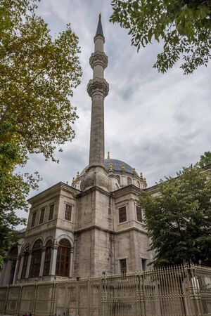 View of Nusretiye Mosque which was built in 1823-1826 by Sultan Mahmut located in Tophane district of Beyoglu, Istanbul, Turkey.25 July 2019 Stok Fotoğraf