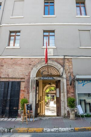 Exterior view of old ancient Saint Joseph Orphanage located in Beyoglu,Istanbul,Turkey.25 July 2019