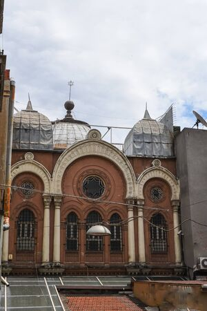Exterior view of Ashkenazi Synagogue was founded by Jews of Austrian origin in 1900 and located in Beyoglu,Istanbul,Turkey.25 July 2019 Stok Fotoğraf