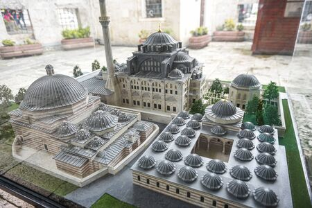 Exterior Model view of Kilic Ali Pasha Complex, a mosque complex designed and built between 1580 and 1587 by Mimar Sinan in Beyoglu,Istanbul,Turkey.25 July 2019