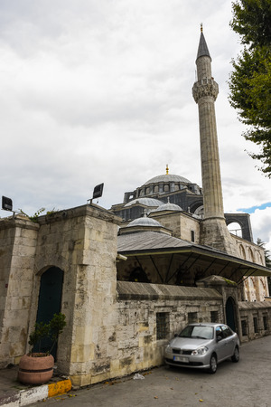 Exterior view of Kilic Ali Pasha Mosque that is part of Ali Pasha Complex, a mosque complex designed and built between 1580 and 1587 by Mimar Sinan in Beyoglu,Istanbul,Turkey.25 July 2019