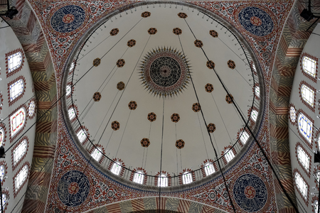 Interior view of Kilic Ali Pasha Mosque that is part of Ali Pasha Complex, built between 1580 and 1587 by Mimar Sinan in Beyoglu,Istanbul,Turkey.25 July 2019 Editöryel