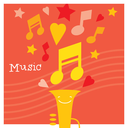 musicality: Children creativity and musicality development and education. Modern flat vector illustration set. Design element