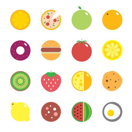 eating habits:  modern illustration, stylish design element Illustration