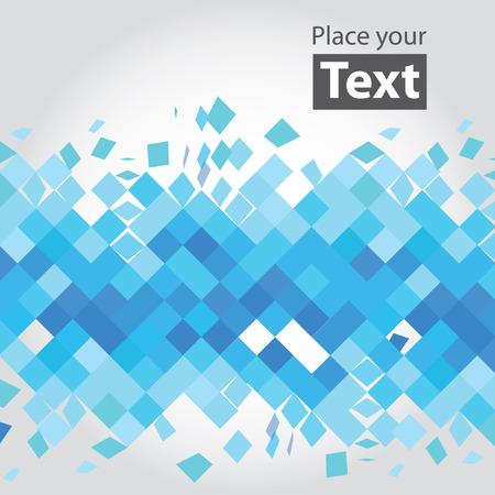 crashed: Crashed blue squares.  Illustration
