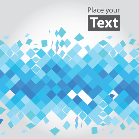 Crashed blue squares.  Vectores