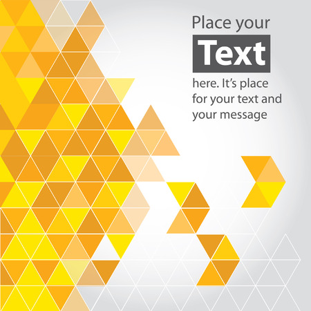Abstract mosaic background. Yellow cubic geometric background.  Ilustração