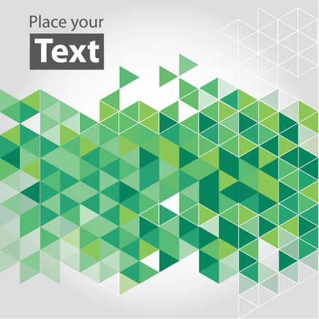 cubic: Abstract mosaic background. Green cubic geometric background.  Illustration