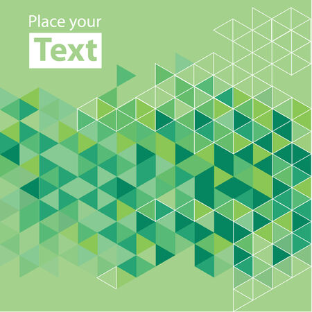cubic: Abstract mosaic background. Green cubic geometric background. Design elements. Layered file