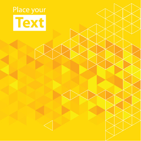 triangle background: Abstract mosaic background. Yellow cubic geometric background.  Illustration