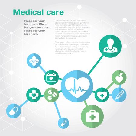 green medical sign: Modern illustration and design element set