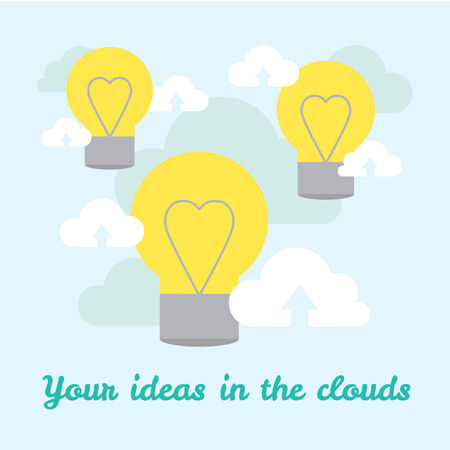 background about ideas in cloud technologies. Vector